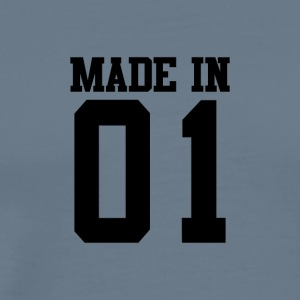 MADE IN 01-2001 - VERJAARDAG - Mannen Premium T-shirt