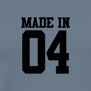 MADE IN 04-2004 - VERJAARDAG - Mannen Premium T-shirt