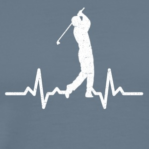 My heart beats for Golf - Men's Premium T-Shirt
