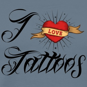 Tattoo / tattoo: I Love Tattoos - Men's Premium T-Shirt