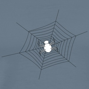 White Spider in spinnenweb - Mannen Premium T-shirt