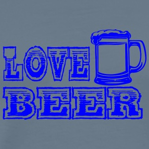 LOVE BEER blue - Men's Premium T-Shirt