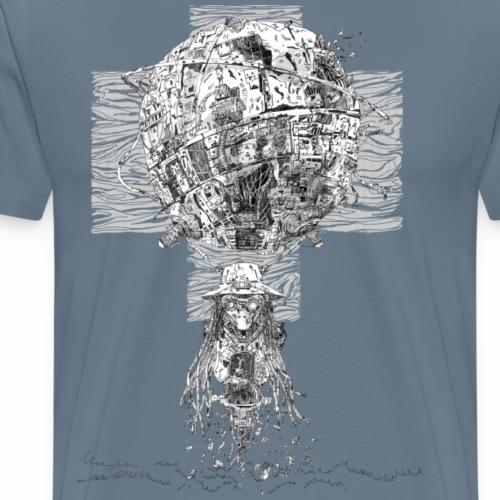 Si-Fi Mechanic - Original illustration - Men's Premium T-Shirt