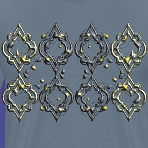 Muster Oriental schmiede eiserne Optik - Männer Premium T-Shirt