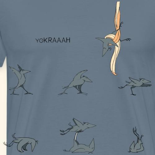 Krähe_yoKRAAAH - Männer Premium T-Shirt