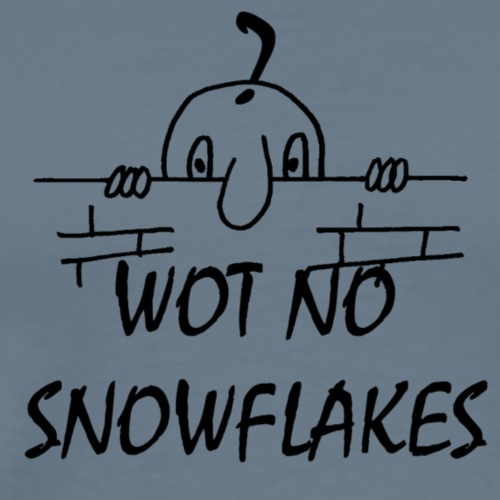 WOT NO SNOW FLAKES - Men's Premium T-Shirt