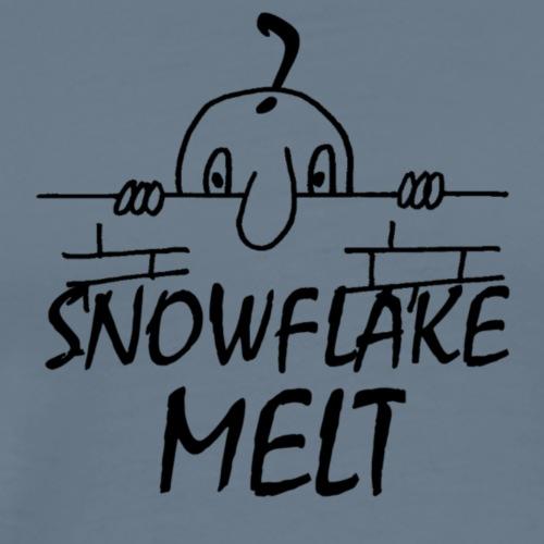SNOWFLAKEMELTBLACK - Men's Premium T-Shirt
