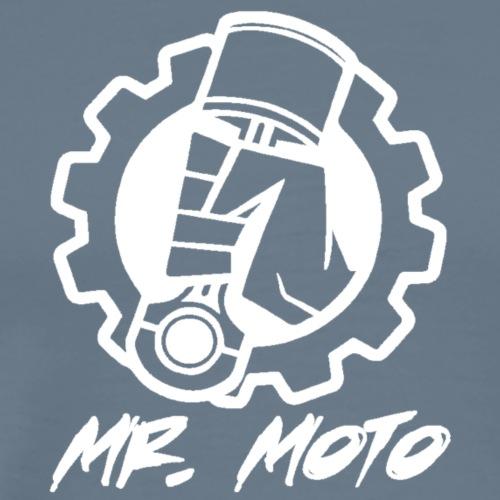 Mr. Moto Logo Weiß mit Schriftzug - Männer Premium T-Shirt