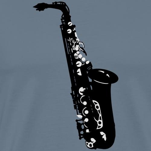 Musikinstrument Saxophon- Musiker T-Shirt Designs - Männer Premium T-Shirt