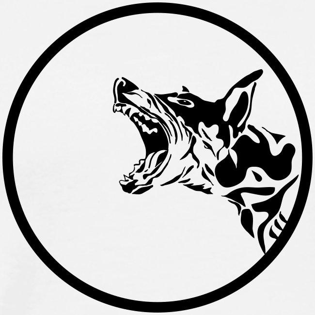 dog in a circle frame