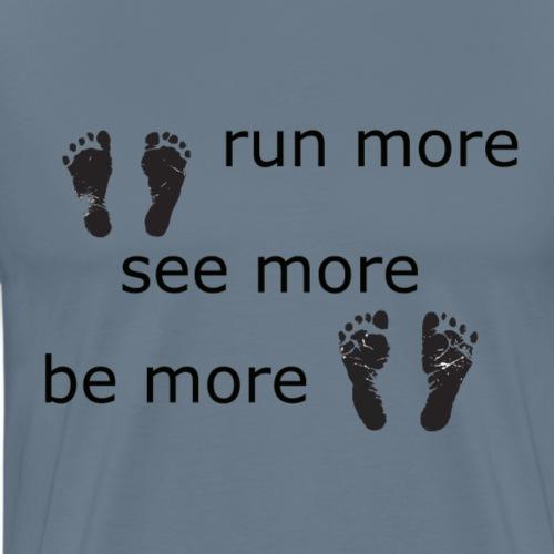 Run Collection - Premium T-skjorte for menn