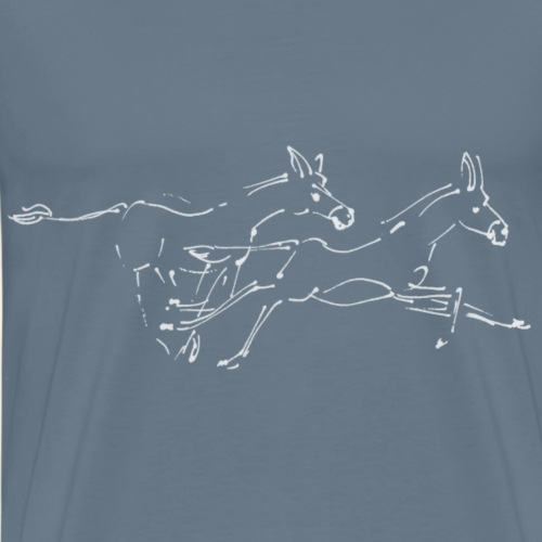 Laufende Wildesel - Männer Premium T-Shirt