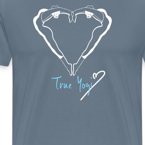 Yoga T-Shirt - True Yogi weiss - Männer Premium T-Shirt
