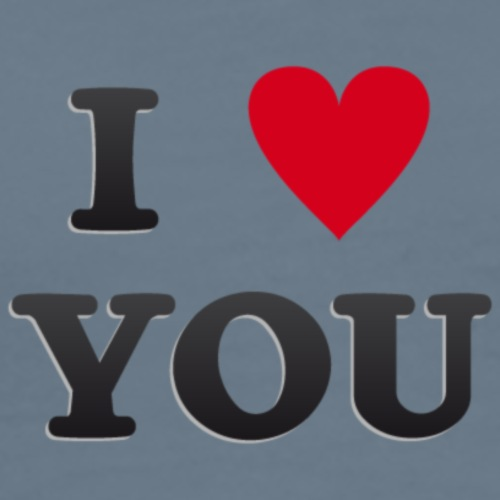 I heart you - Herre premium T-shirt