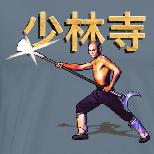 Gordon Liu som San Te - Warrior Monk - Herre premium T-shirt