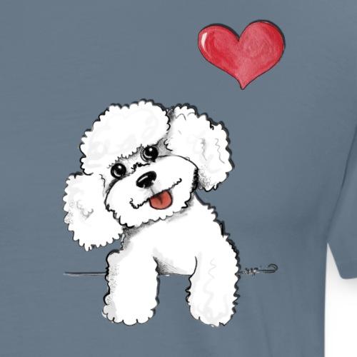 barboncino bianco - Maglietta Premium da uomo