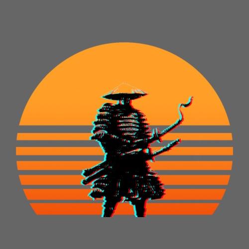 Samurai Sunset yellow - Männer Premium T-Shirt