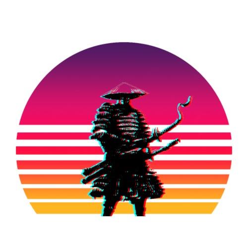 Samurai Untergang Outrun - Männer Premium T-Shirt