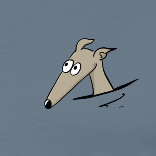 Windhund in der Tasche - Männer Premium T-Shirt