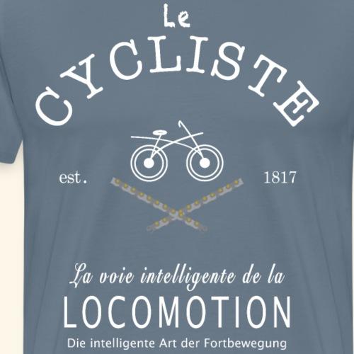 Radfahrer und Radfahrerin Französisch/ Deutsch - Männer Premium T-Shirt