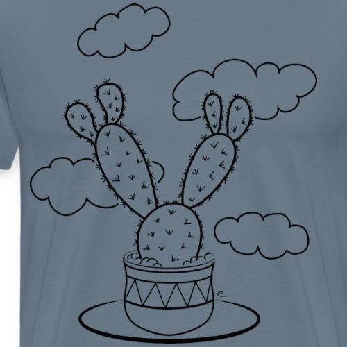 Un cactus dans les nuages - T-shirt Premium Homme