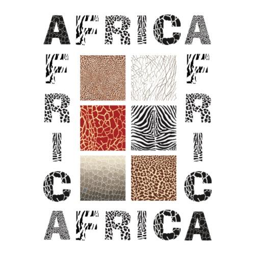 Africa background with wild animal - Männer Premium T-Shirt