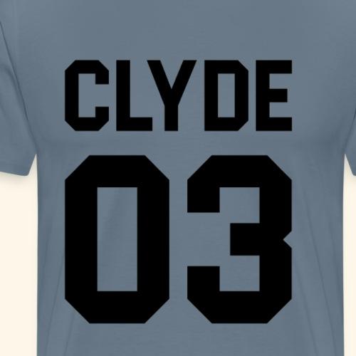 CLYDESCHWARZ - Männer Premium T-Shirt