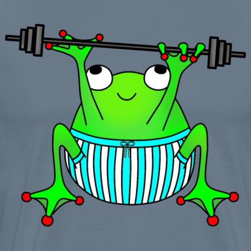 Weightlifting frog - Men's Premium T-Shirt