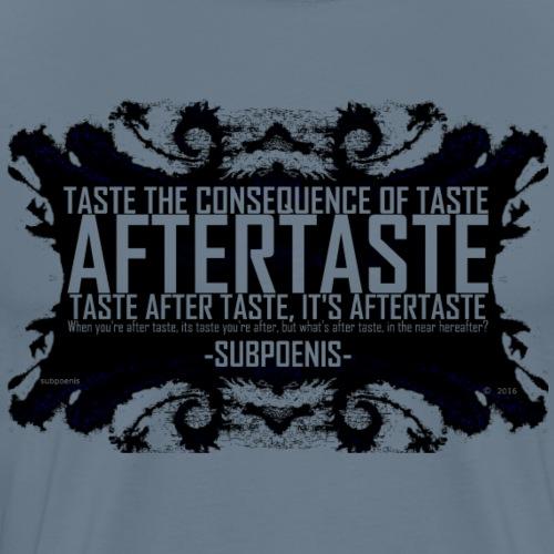 AFTERTASTE trans text - Men's Premium T-Shirt