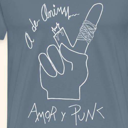 Amor y Punk White - Camiseta premium hombre