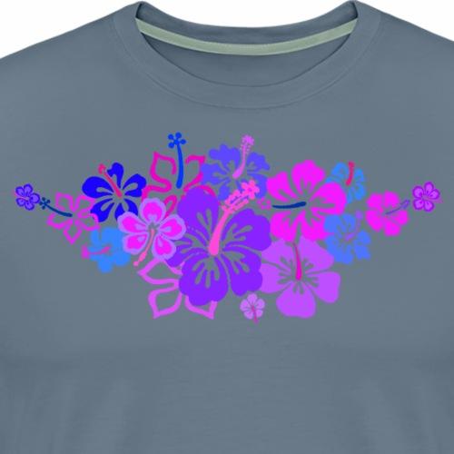 HIBISKUS blau - Männer Premium T-Shirt