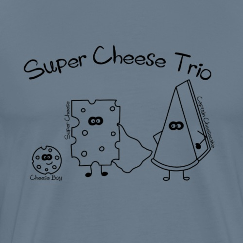 Super Cheese Trio - Männer Premium T-Shirt