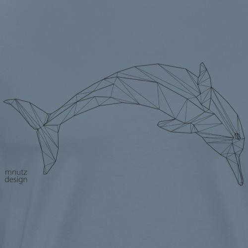 ORIGAMI - Delphin - Männer Premium T-Shirt