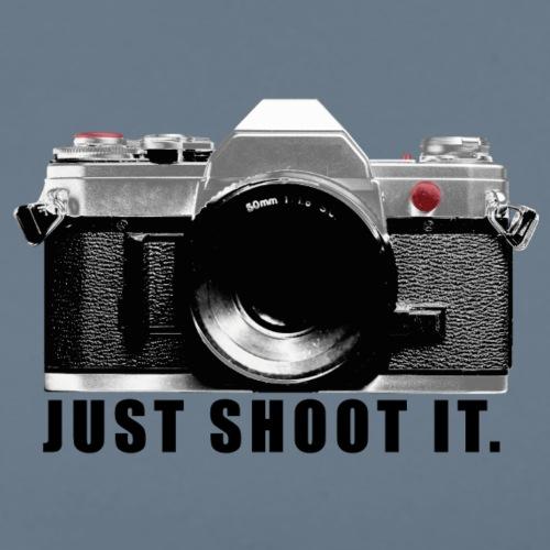 Camera JUST SHOOT IT. Geschenk für Fotograf - Männer Premium T-Shirt