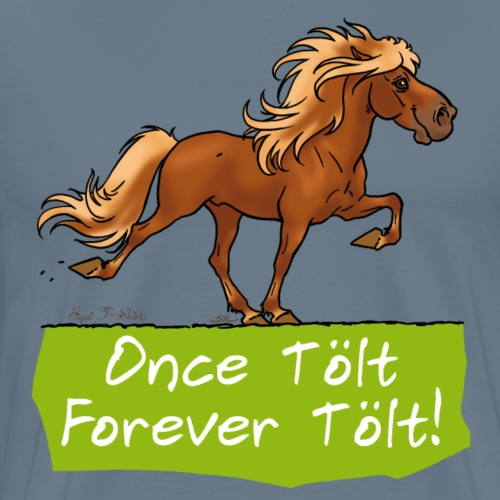 Icelandic horse tölt - T-shirt Premium Homme