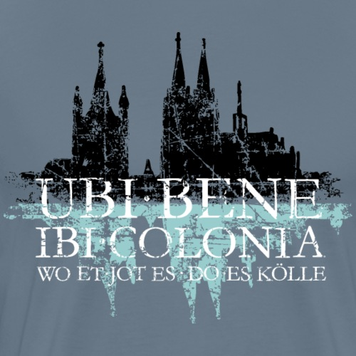UBI BENE IBI COLONIA Köln Rhein Skyline Spruch - Männer Premium T-Shirt