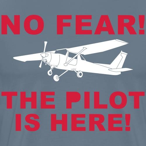 Pilot fliegen privat Geschenk Angst lustig Flugzeu - Männer Premium T-Shirt