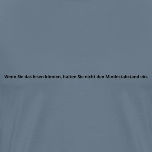 Mindestabstand - Männer Premium T-Shirt