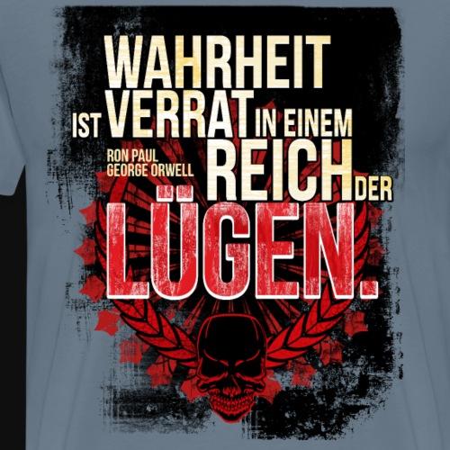 Wahrheit ist verrat in einem Reich der Luegen - T-shirt Premium Homme