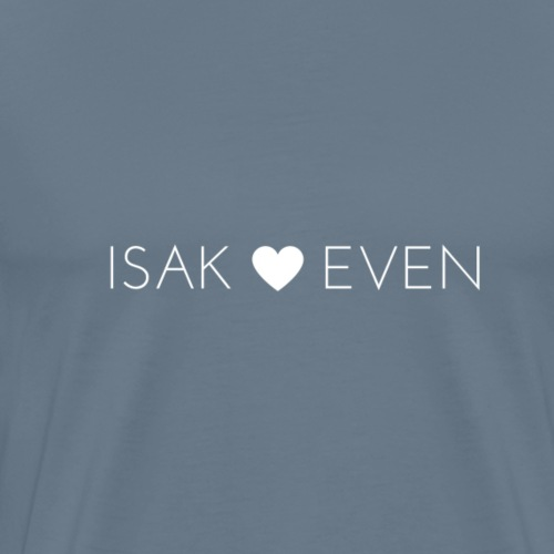 ISAK + EVEN HVIT - Premium T-skjorte for menn