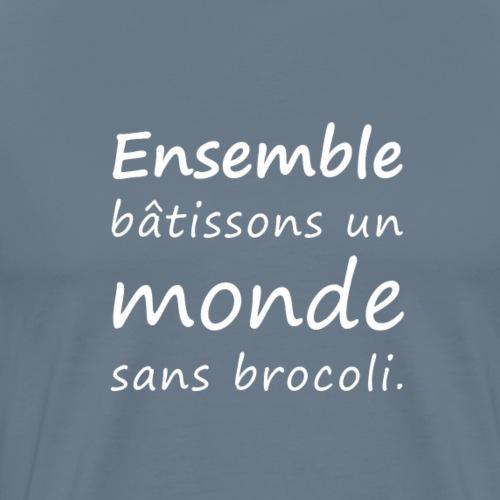 Monde sans brocoli (blanc) - T-shirt Premium Homme