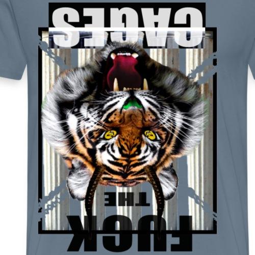 the cages - Men's Premium T-Shirt