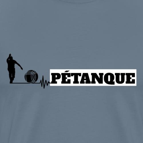 Pétanque Sport Schrift Texst Shirt - Männer Premium T-Shirt