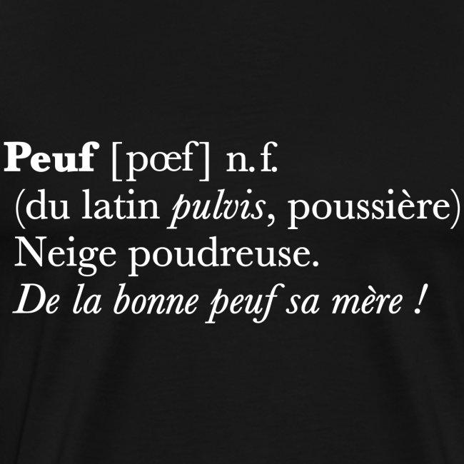 Peuf definition - white