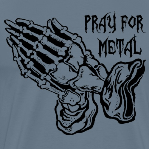 pray for metal - T-shirt - Männer Premium T-Shirt