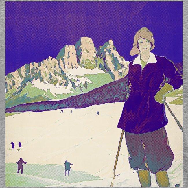 Ski trip vintage poster
