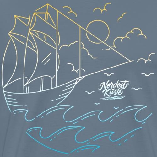 Schiff mit Sonne und Meer - Männer Premium T-Shirt