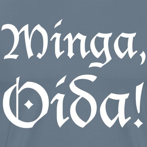 Minga, Oida - Männer Premium T-Shirt
