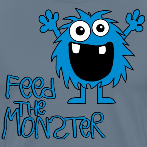 Feed the Monster - Blau