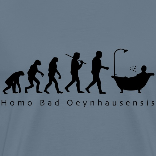 Die Evolution des Bademeisters - Männer Premium T-Shirt